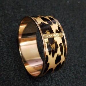 TALBOTS leopard animal print gold bangle bracelet